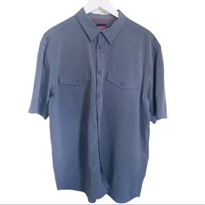 KARBON Button Down Casual/Formal Shirt Grey Sz XL